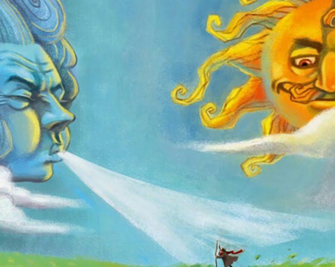 Ветер и солнце Ушинский читать