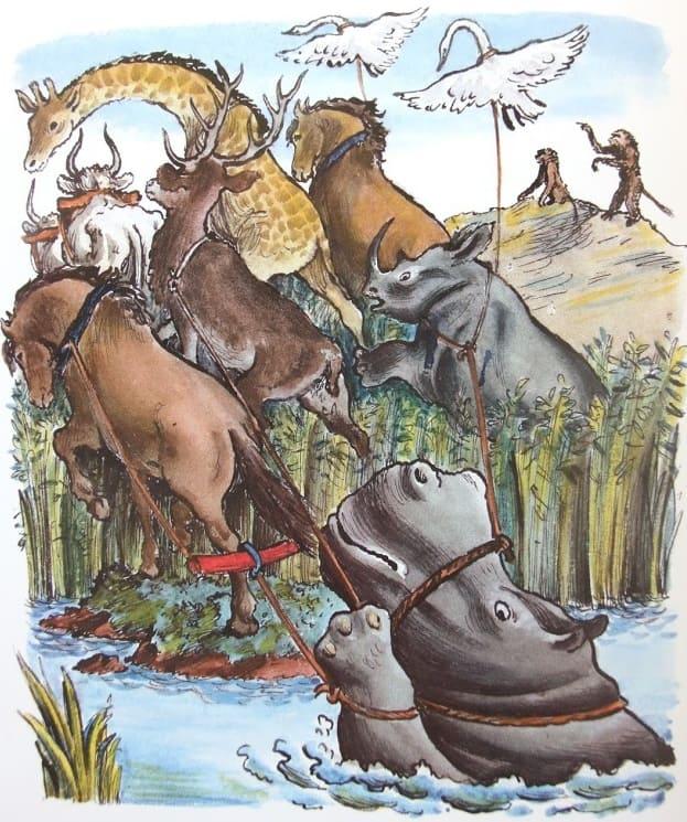Нелегкая это работа из болота тащить бегемота