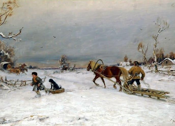 Зима Крестьянин торжествуя